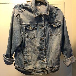 Medium Target Jean jacket w embroidered details!